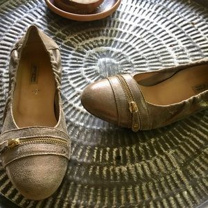 Paul green ballet flats gold /Silver Leather 8.5